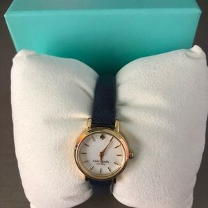 kate spade Small Navy and Gold Watch